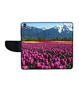 KolorEdge Printed Flip Cover For Lenovo S850 -Multicolor (50KeMLogo11268LenovoS850)