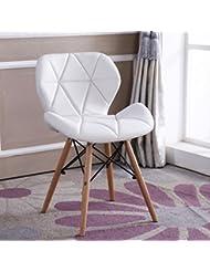 Klappstuhl Qiangzi Strand Hölzerne Stühle Kreative Einfache Süßigkeiten Farben Rückenlehne Lazy Stuhl Mode Freizeit Büro Dorm Schlafzimmer Studie Computer Stuhl (Farbe : Weiß, Design : Pack of 1)