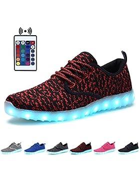 KEALUX 7 Farbe USB Aufladen Blinkende LED Jungen Mädchen Kinder Atmen Nachtleuchtende Sport Schuhe Low Top Schnüren...