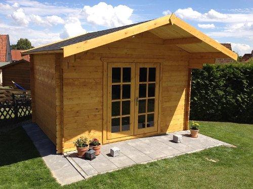 Gartenhaus DUISBURG Blockhaus 380cmx300cm - 28mm Holzhaus TOP-Qualität