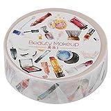 Dekorative Washi Tape für Heimwerker Craft Collection Scrapbooking mit farbigen Mustern 15mm × 8 m Beauty Makeup