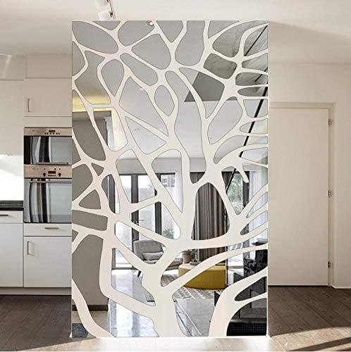 zhenfa Entrée Fond Mural décoratif Miroir 3D stéréoscopique Jaclico enlèvement Environnement Mur Stickers Stitchi Miroir décoratif géométrique de ng Wall Stickers
