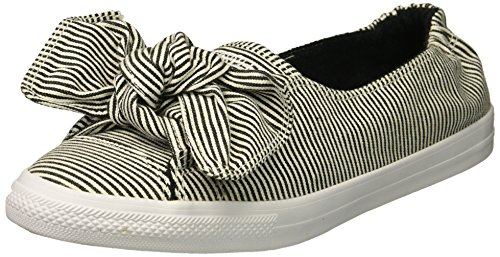 Converse Damen CTAS Knot Slip Black/White on Sneaker, Mehrfarbig (White/Black/White 102), 37 EU (Canvas-slip-sneakers)
