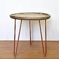 Semplice creativo Retro Pallet Tavola rotonda / Coffee Shop Mobili Tavola rotonda / Tavolino / mensola / Flower Stand (2 colori facoltativi) (50 * 46 centimetri)