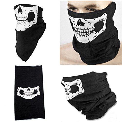 Moppi Cranio fantasma maschera di protezione del motociclista mascherina più festa di Halloween