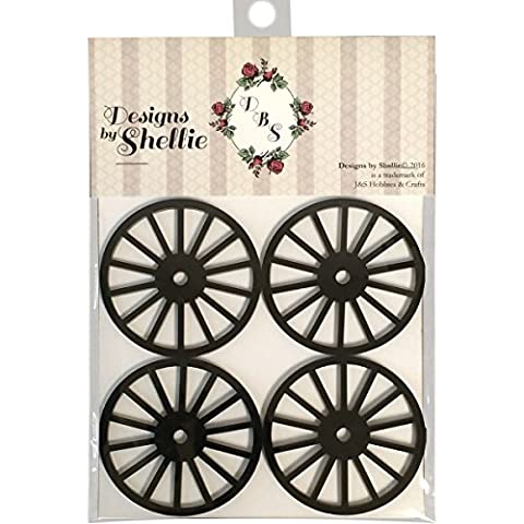 J & S Hobbies And Crafts DBSE-005 Designs By Shellie Acrylic Wagon Wheels, Multi-Colour