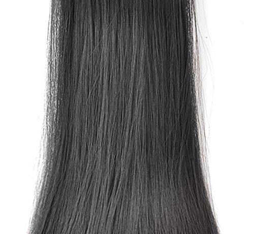 Elegante Mittelalter Mutter real menschliches Haar Perücke kurze natürliche gerade Spitze Perücke mit Bang Schwarz