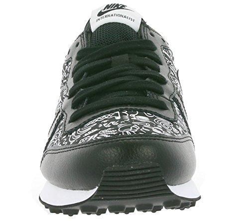 Nike W Internationalist Print, Scarpe da Corsa Donna Nero / Nero-Bianco)