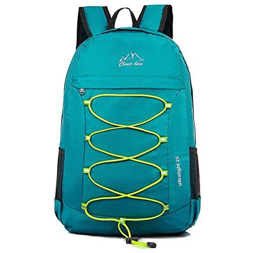 Yopin multifunzione zaino trekking pieghevole peso leggero daypack per sportivo outdoor campeggio alpinismo arrampicata viaggio (verde)