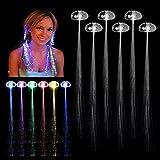Punk Glow Hair LED Leuchten Glasfaser Erweiterungen Party Rave Flashing, perfekte Mädchen für alle Mädchen