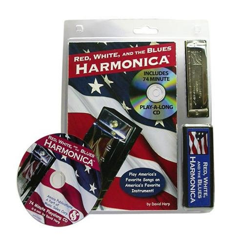 HAL LEONARD rot, weiß, und die Blues Mundharmonika Buch und CD