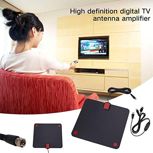 Hanbaili HD Digital TV Antenne Signal Verstärker, 50 Meile Range Digital HD Flat TV DTV Antenne abnehmbare Signal Verstärker Booster