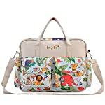 Sine90® Large Baby Mummy Waterproof Nappy Changing Bags With Changing Mat Diaper Bag Beige