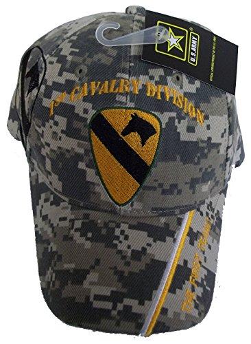 CAP SPORT 1. Kavallerie Division Camo Bestickt Baseball Gap USA First Team Vet Armee Seal Hat -