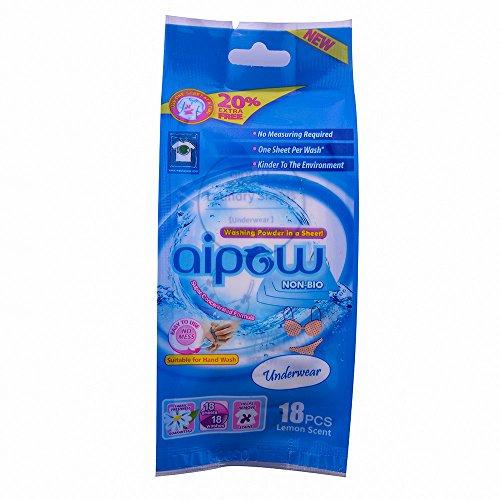 aipow-comodo-da-viaggio-naturale-fragranza-bucato-podwer-sheet-soda-biancheria-intima-18-pieces