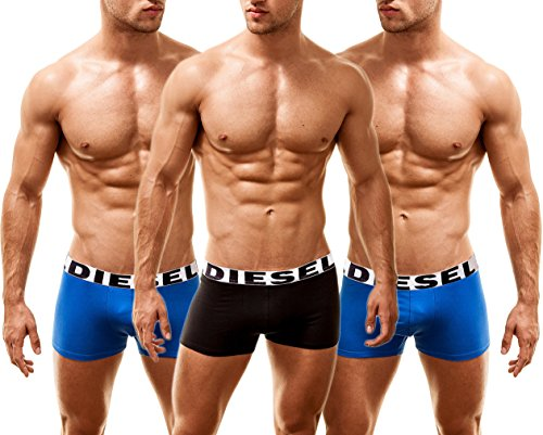 Diesel Herren 3 Pack Boxershorts Shawn Multi-ROYAL, Large