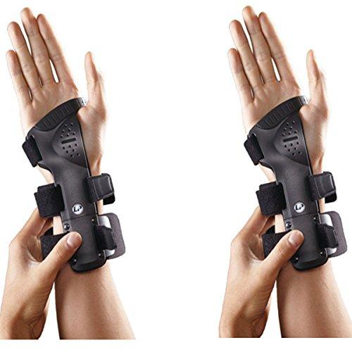 SDA rigido per polso da LP (Coppia)-Tunnel carpale, per-carpale Bone dislocazione/Frattura-Supporto Polso Sprain/Affaticamento Muscolare/Sport Injury Guard-Sostegno per polso-repetative Strain Injury-Post Traumatico Brace-Colle della Frattura Brace (mano destra, M--16,5-19,7cm), RIGHT HAND, L -- 19.7-25.4cm
