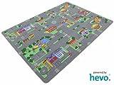 Auto Teppich HEVO® Kinder Strassen Spielteppich | Kinderteppich 145x200 cm