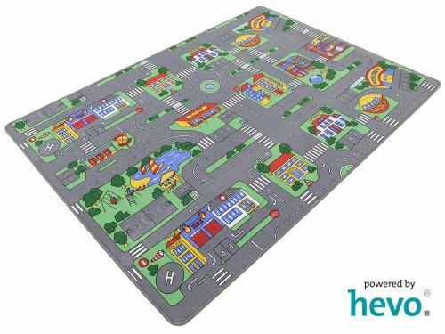 *Auto Teppich HEVO® Kinder Strassen Spielteppich | Kinderteppich 145×200 cm*