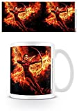 1art1® Set: Hunger Games, La Révolte, Partie 2, Flammes De La Révolution Tasse � Café Mug (9x8 cm) + 1x Sticker Surprise