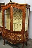 LouisXV Barock Vitrine Schrank Rokoko Antik Stil LaVt0001Def antik Stil Massivholz. Replizierte Antiquitäten Buche (Ahorn, Mahagoni, Eiche) Antikmessing Beschläge, furniert, intarsiert