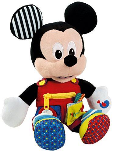 Baby Clementoni- Mickey Peluche Primeros apredizajes37x26 Mouse aprendizajes, (55207.8)