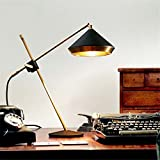 Cwill Post moderne Design Stehleuchte Schwarz Weiß Stehleuchte Hut 2 Arm Stehleuchte Eleganter Ast Lampstanding Tischleuchte Leuchte, Schwarz, Tischleuchte