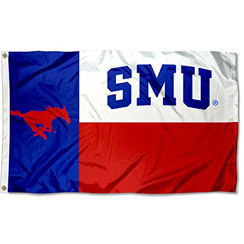 Smu Mustang Logo (College Flags and Banners Co. SMU Mustangs Texas State Flagge)