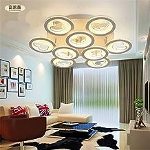 Cuore dell'India soffitto detrazione moderno acrilico minimalista LED Ferro casa di moda creativa soggiorno potenza soffitto camera da letto 33-99w interruttore a pulsante , yellow light , 3 head