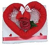 Frotteebox Geschenk-Set Herz aus Handtuch (100x50cm) und Gästetuch geformt