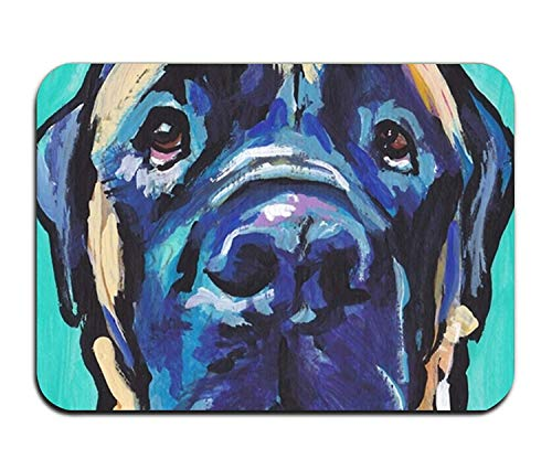 zunhuagong Fashion 3D Print Door Mat English Mastiff Bright Colorful Pop Dog Art Welcome Doormat for Indoor Outdoor