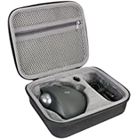 Hard Travel Case for Logitech MX Ergo Advanced Wireless Trackball Mouse by co2CREA (black-large)