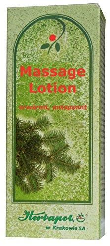 Massage Lotion mit Extrakten aus Kiefernadel, Ingwer und Lavendelöl, 100ml, Erwärmung, Erfrischung, Entspannung, verbessert Durchblutung, vertreibt Schmerzen in den Beinen, schmerzende füße, müde Hände, Beine, Füße, Schulter, Muskeln, gegen Erkältung und Grippe, Stärkung des Immunsystem, (Erkältungen Grippe-massage-Öl &)