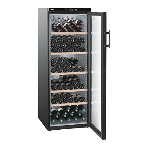 Cave à vin de mise en température, 5 zones, 201 bouteilles