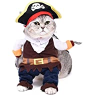 Pawz Road Pirates of the Caribbean Pet Cat Costume Cartoon Dog Hoodies Halloween Transfiguration Equipment (Fit under 2.5 kg pets)