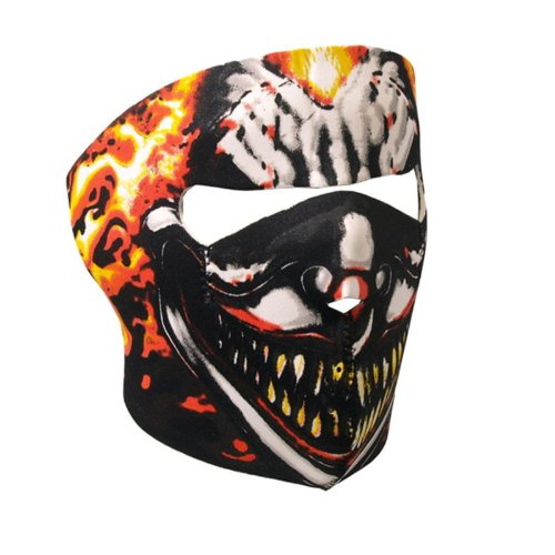 Maschera Per Il Viso In Neoprene, Disegno Zanne, Teschio, Ragno, Assassino