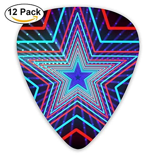 Abstract Stars Guitar Picks 12/Pack Set Paddles Plectrums For Guitarist Players -