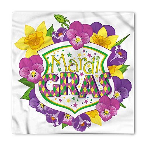 andana, Blazon with Flowers, Unisex Head and Neck Tie,39.3 * 39.3inch ()