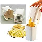 Pommes-Schneider. Handbetriebenes Schneidewerkzeug für Kartoffeln und für Rohkost, gutes Geschenk, Gemüseschäler aus Keramik inklusive -