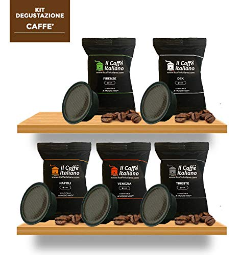 Verkostungsset mit 5 verschiedenen Kaffeesorten - 100 A Modo Mio Kompatible Kaffee Kapsen - Il Caffè Italiano