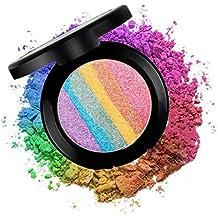 CINEEN 6 Colores Arco Iris Sombras de Ojos Rubor Highlight Polvos sueltos ligero de Cara Un Iluminador para El Hueso del Pómulo Maquillaje Belleza Popular