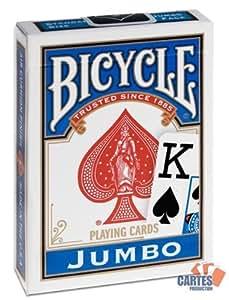 Jeu de 52 cartes : BICYCLE JUMBO Rider Back Bleu