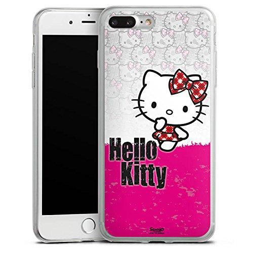 Apple iPhone 8 Plus Slim Case Silikon Hülle Schutzhülle Hello Kitty Merchandise Fanartikel Pink Punk Silikon Slim Case transparent