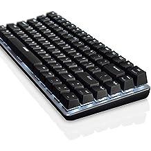 Gaming Teclado Mecánico Teclado con cable Retroiluminación Teclado Negro Switch 82-keys DU12 By Qisan
