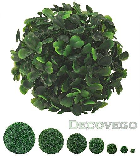 Decovego Buchsbaum Kugel Künstliche Pflanze Buxus Deko Innen und Aussen 8-55 cm Durchmesser