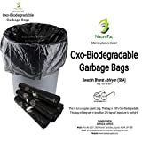 #10: Garbage bags biodegradable premium small size 43 cm x 51 cm ,Trash bags / Dustbin bags/100% biodegradable tested garbage bags (180 bags) by NATUREPAC