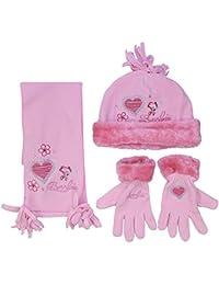 Mattel - Ensemble bonnet, écharpe et gants - Fille Multicoloured