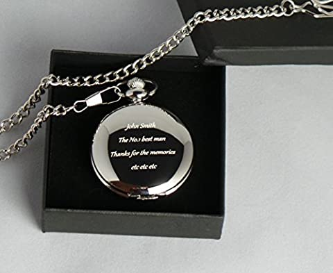 Best Man Gifts gravée, personnalisée, maçons Of London Collier montre de poche en écrin cadeau pour 18e 21e 40e 50e 60e anniversaire, de la retraite, Best Man, de mariage, de nouveaux emplois
