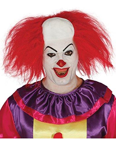 Clowns Perücke aus Latex mit Halbglatze für Fasching und Halloween (Rote Clown Perücke Für Erwachsene)
