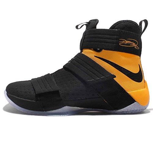 Nike Lebron Soldier 10 Sfg, Scarpe da Basket Uomo Black/Black-university Gold